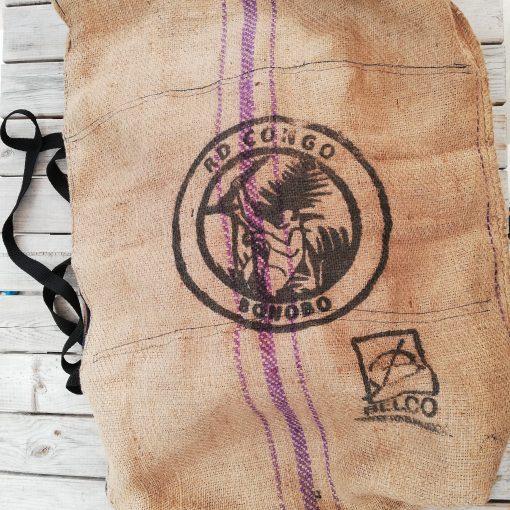 sac toile de jute motif bonobo
