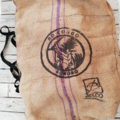 sac art toile de jute motif bonobo
