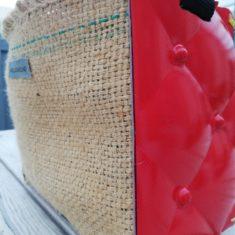 petit sac bandoulière bi-matières